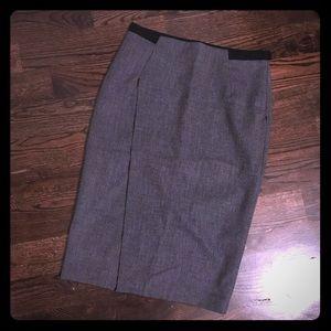 Zara wrap front pencil skirt